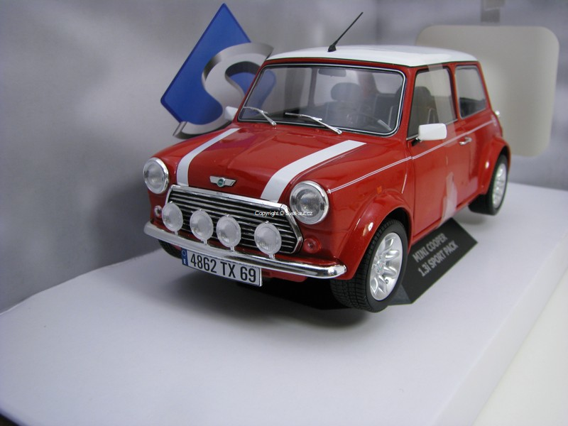Mini Cooper 1.3i Sport Pack 1997 Nightfire Red 1:18 Solido